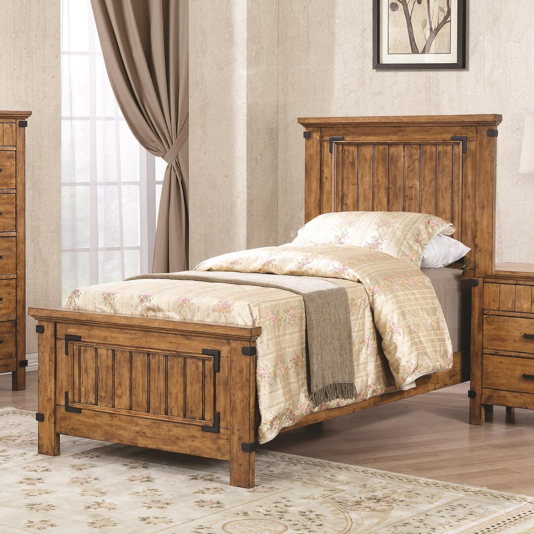 Brenner Twin Panel Bed by Coaster at Standard Furniture