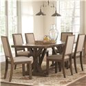Coaster Bridgeport Table and Chair Set - Item Number: 105521+6x22