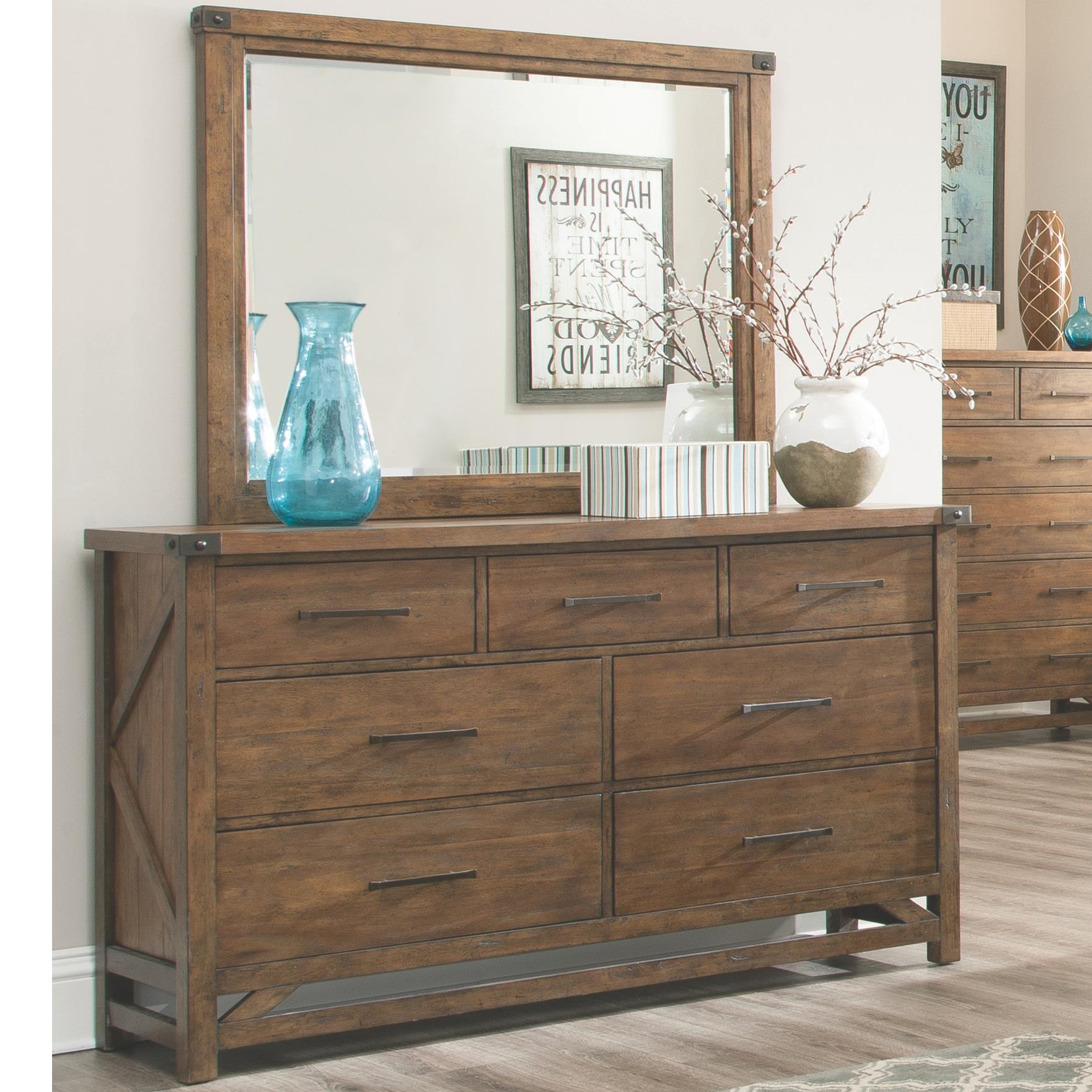 Coaster Bridgeport Dresser with 7 Drawers and Mirror - Item Number: 204173+204174