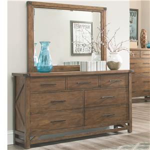 Coaster Bridgeport Dresser with 7 Drawers and Mirror