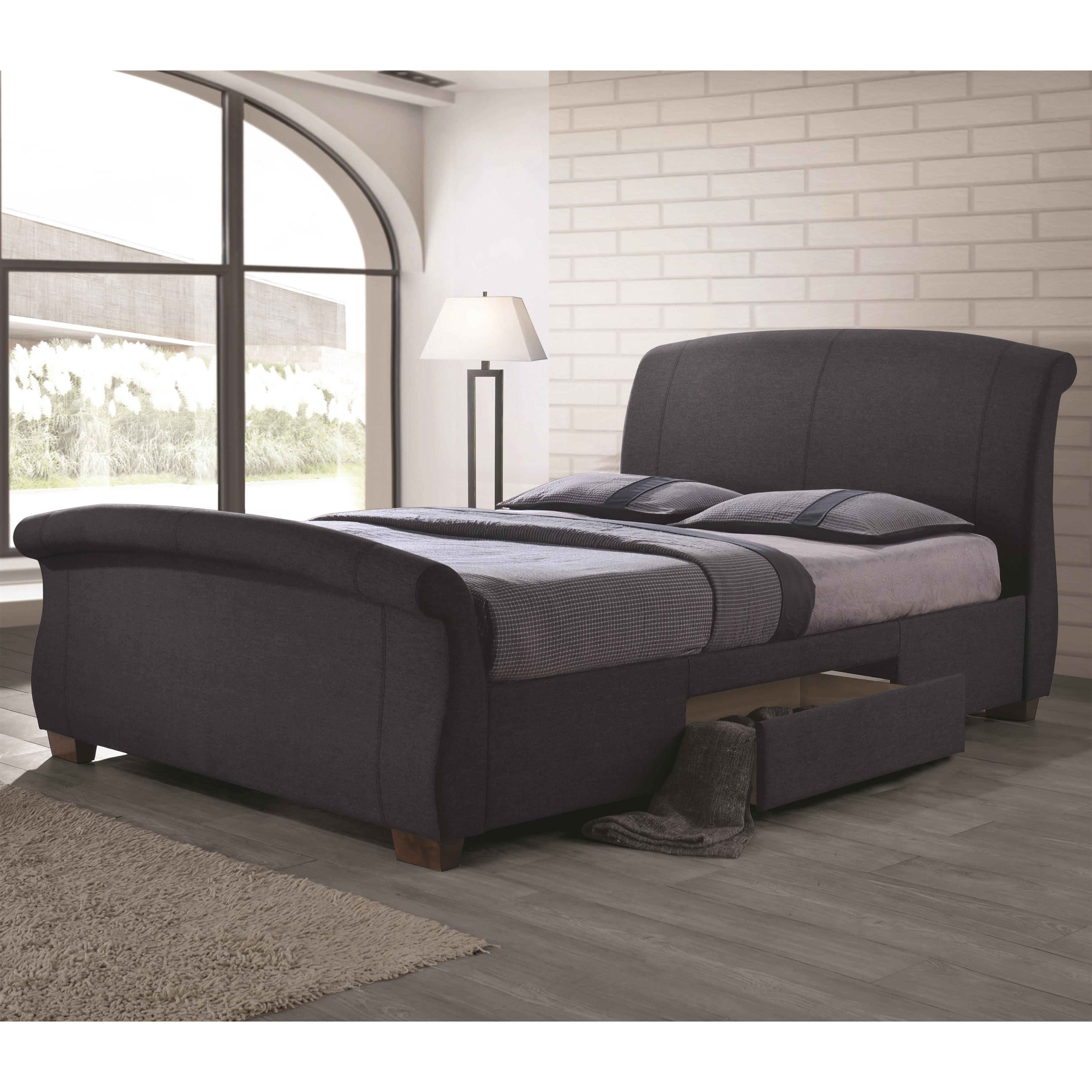 Coaster Bristol Fully Upholstered King Bed - Item Number: 300524KE