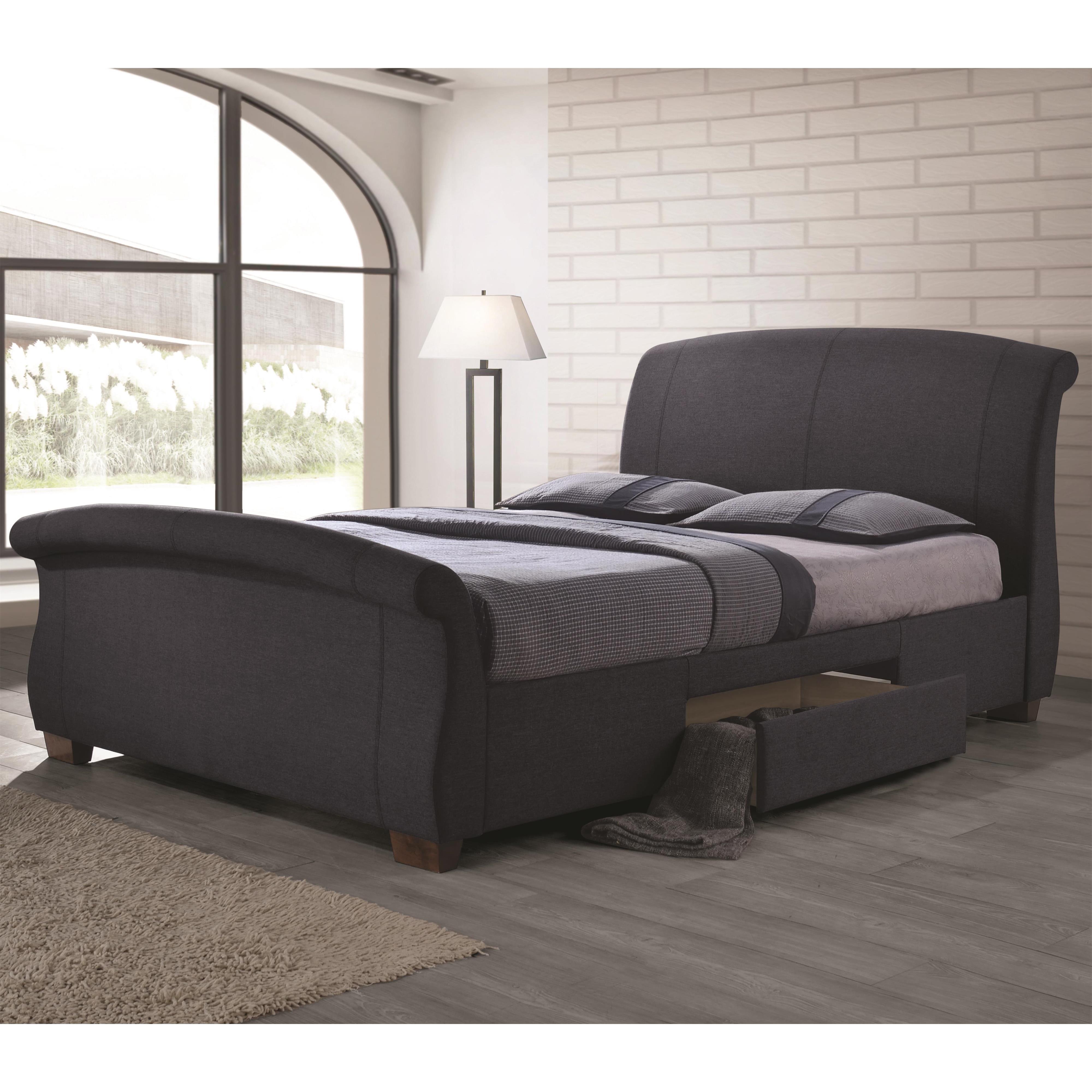 Coaster Bristol Fully Upholstered California King Bed - Item Number: 300524KW