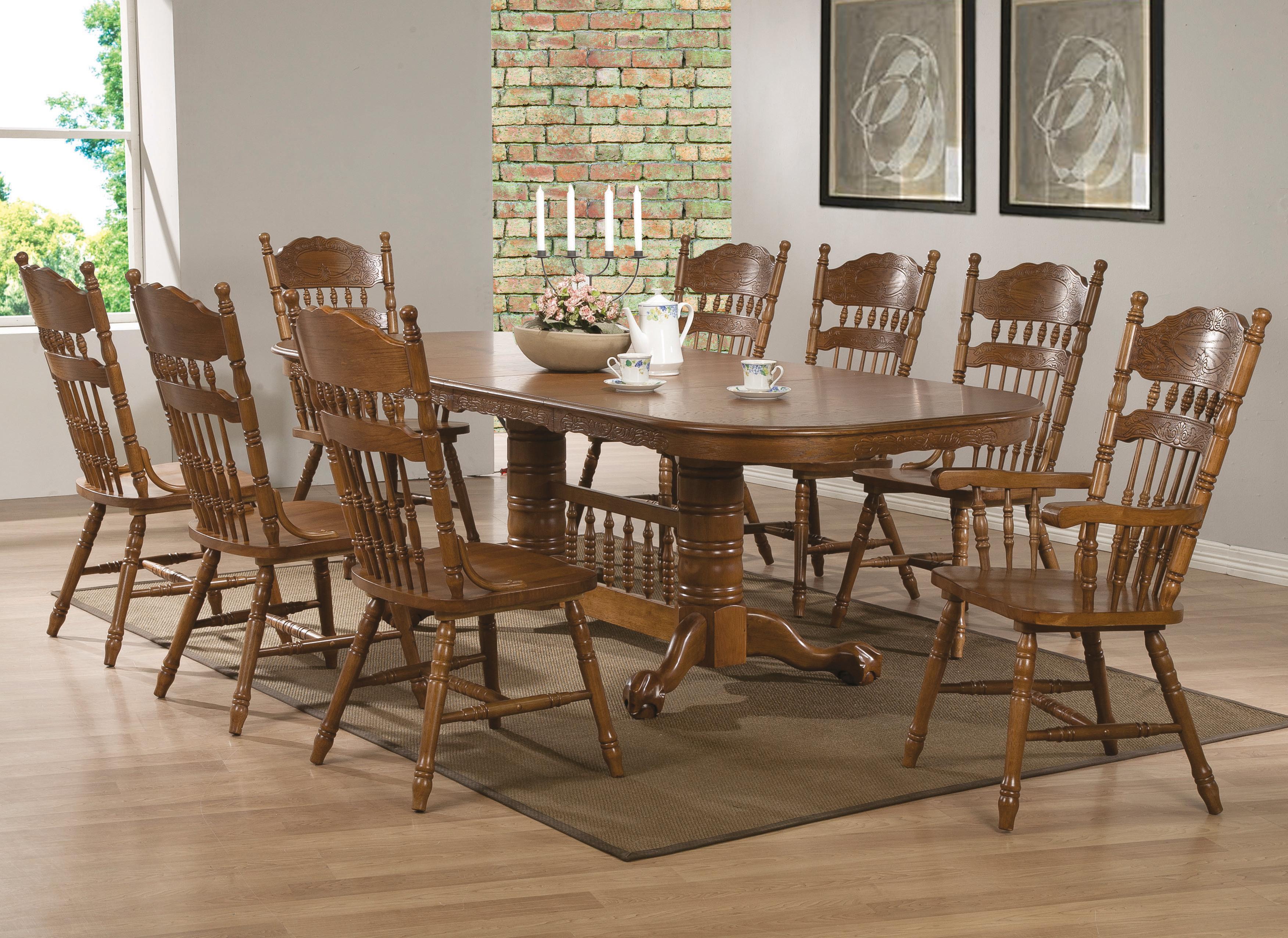 Coaster Brooks 9 Piece Table Set - Item Number: 104271+2x73+6x72