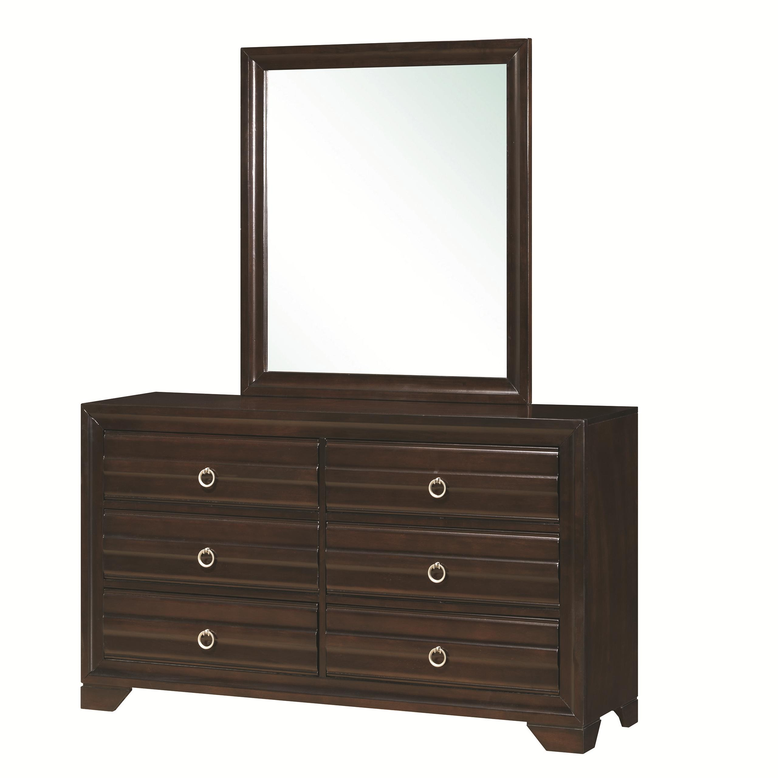 Coaster Bryce 20347 Dresser and Mirror Combo - Item Number: 203473+203474