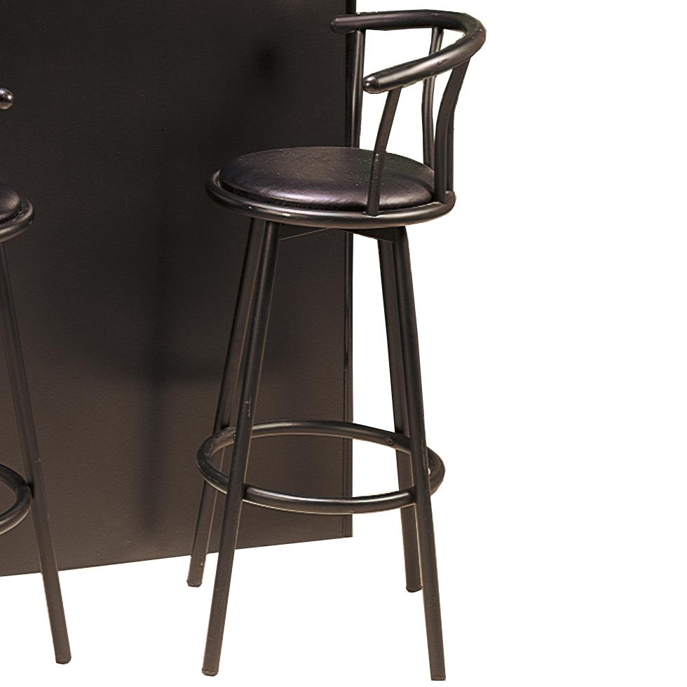 Coaster Buckner 2398 29 Quot Casual Metal Bar Stool With Faux