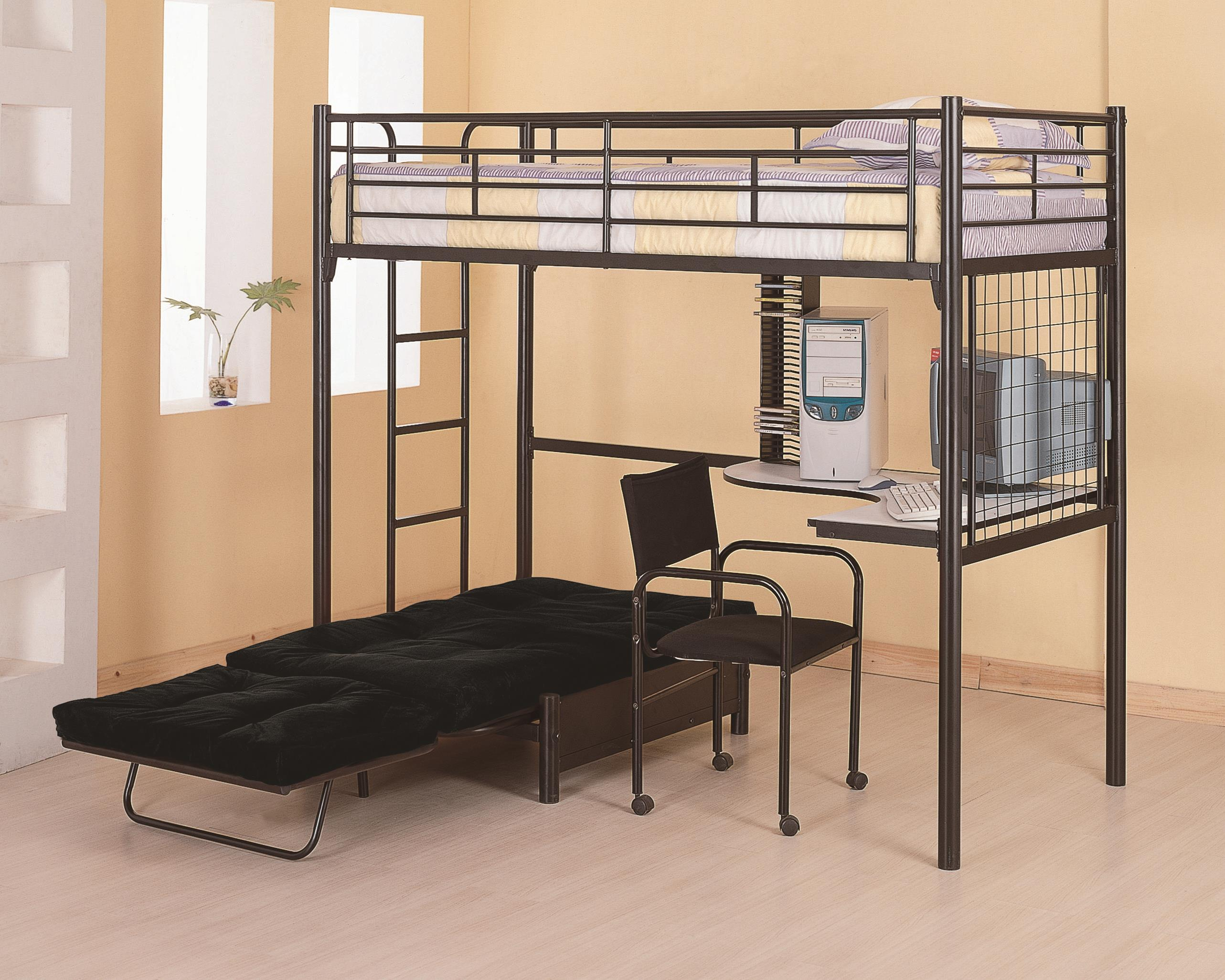 Coaster Bunks Twin Loft Bunk Bed - Item Number: 2209+2335M
