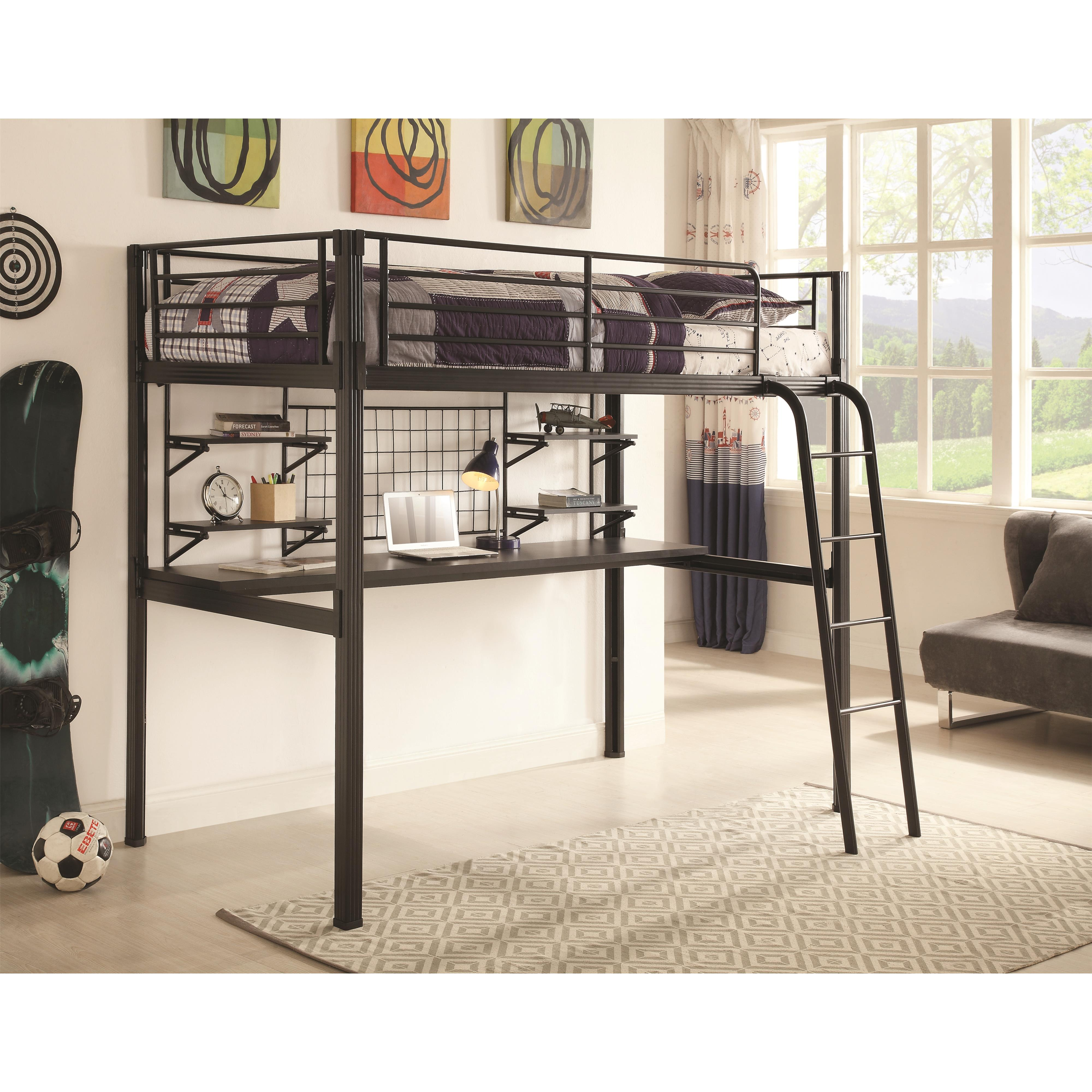 Coaster Bunks Twin Loft Bunk Bed - Item Number: 400706T