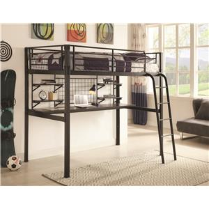Coaster Bunks Twin Loft Bunk Bed