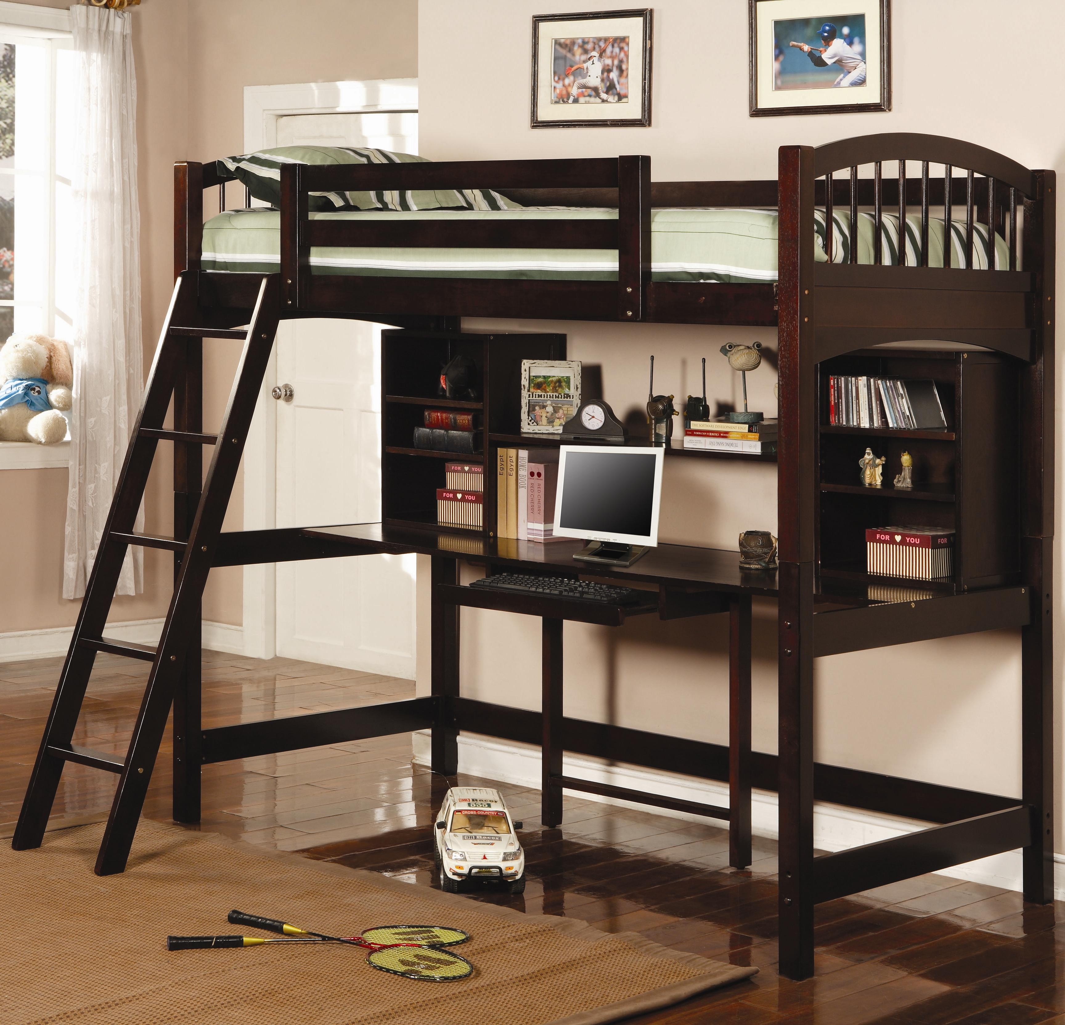Bunks Twin Workstation Bunk by Coaster at Standard Furniture