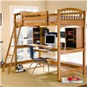Coaster Bunks Casual Twin Workstation Loft Bunk - 460063 - Also Available in Warm Brown Finish