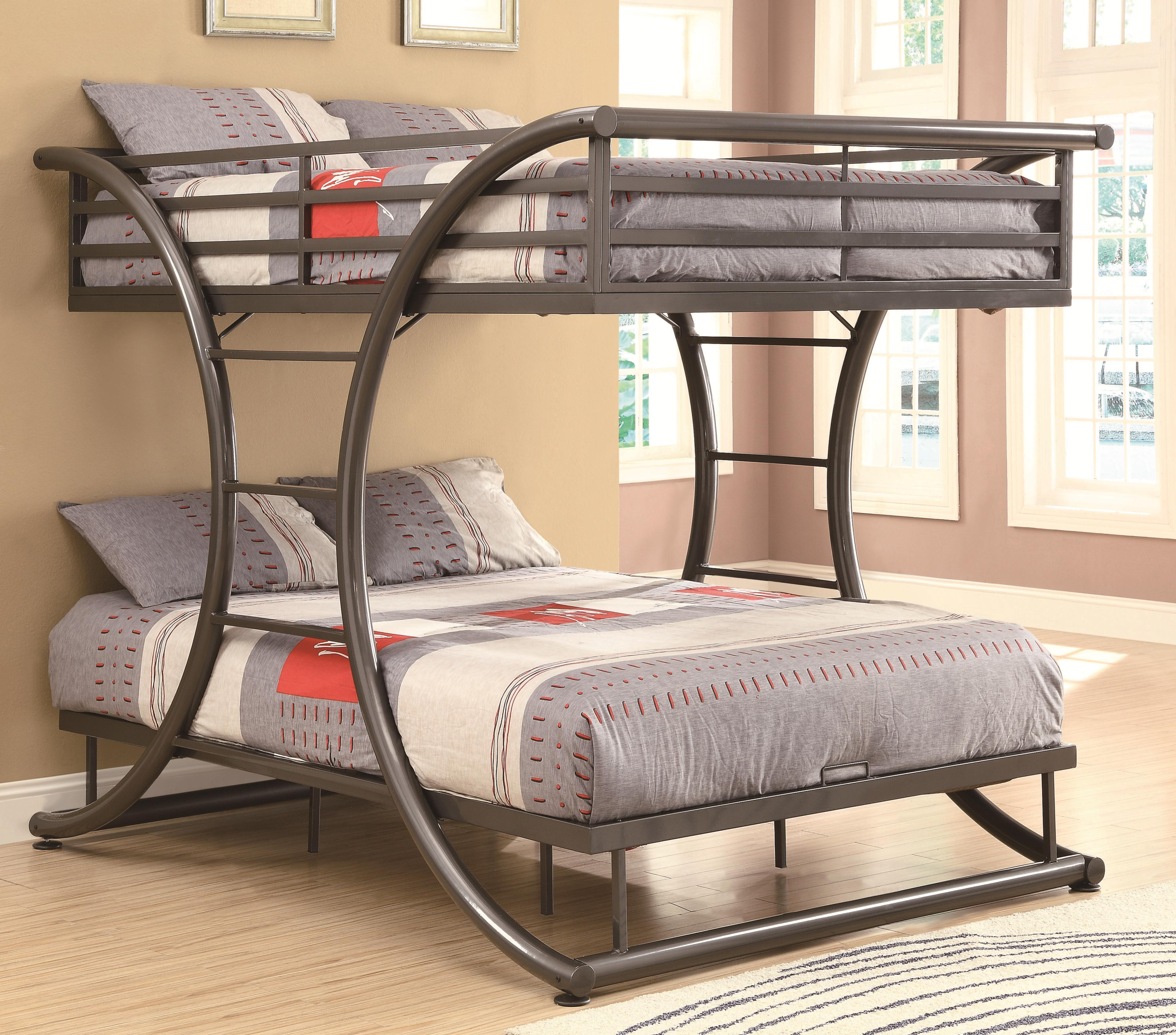 Coaster Bunks 460078 Full Over Full Contemporary Bunk Bed Dunk