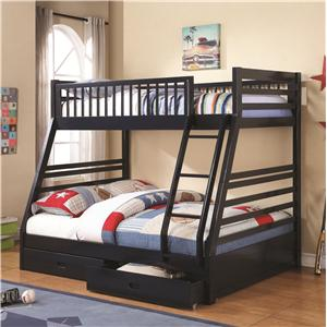 Coaster Bunks Twin over Full Bunk Bed