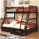 Coaster Bunks Twin over Full Bunk Bed - Item Number: 460184