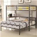 Coaster Bunks Metal Twin-over-Full Workstation Loft Bed - 460229+300279F