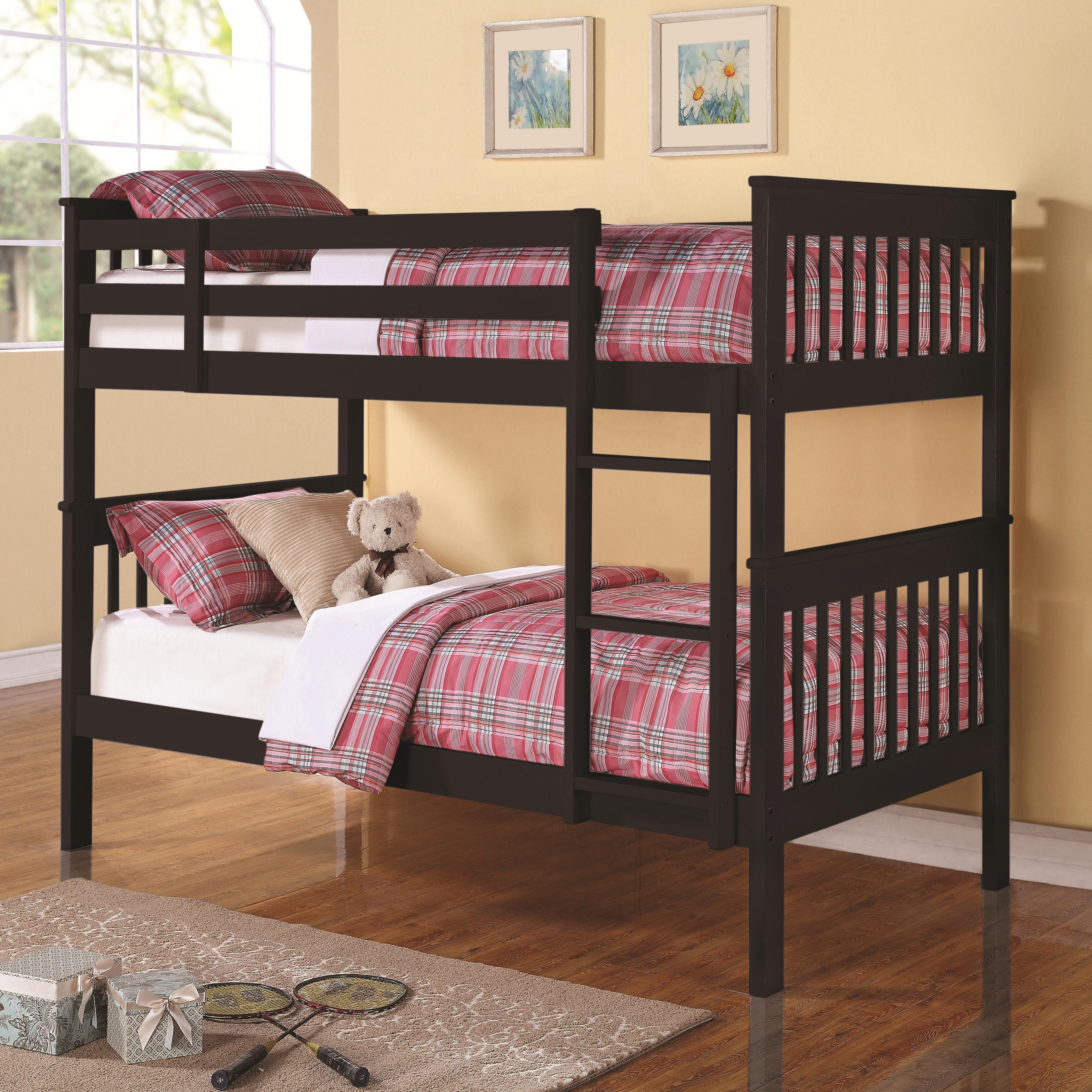 Coaster Bunks Twin Over Twin Bunk Bed - Item Number: 460234