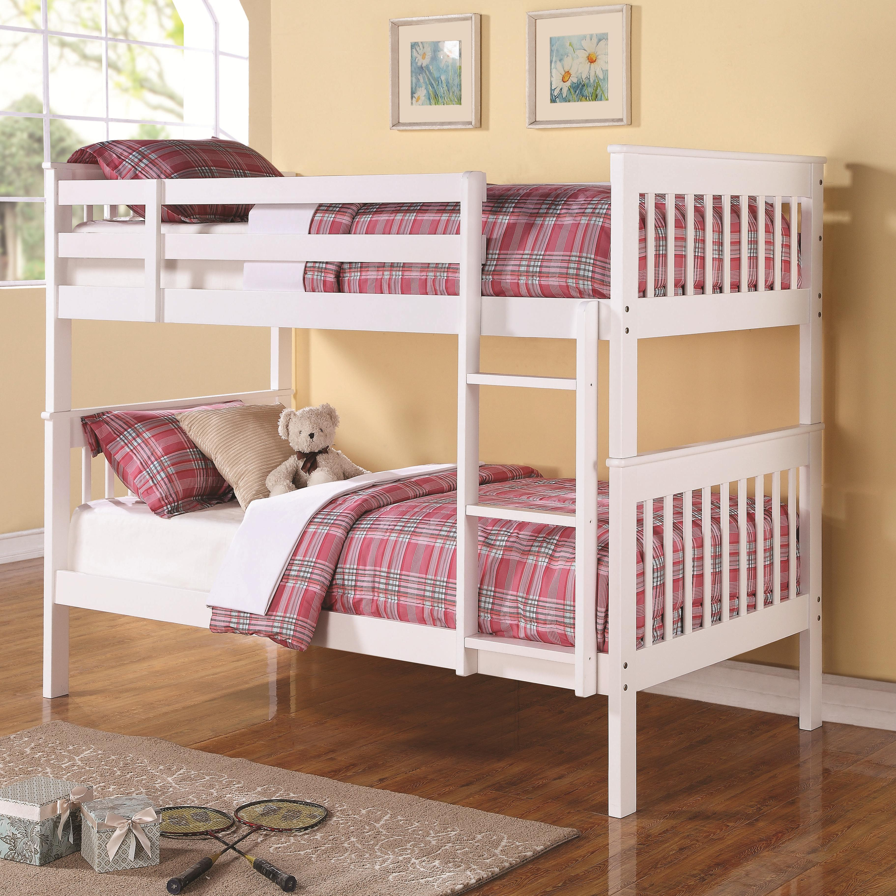 Coaster Bunks Twin Over Twin Bunk Bed - Item Number: 460244
