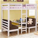 Coaster Bunks Twin Over Twin Convertible Loft Bed - Also Available in White Finish