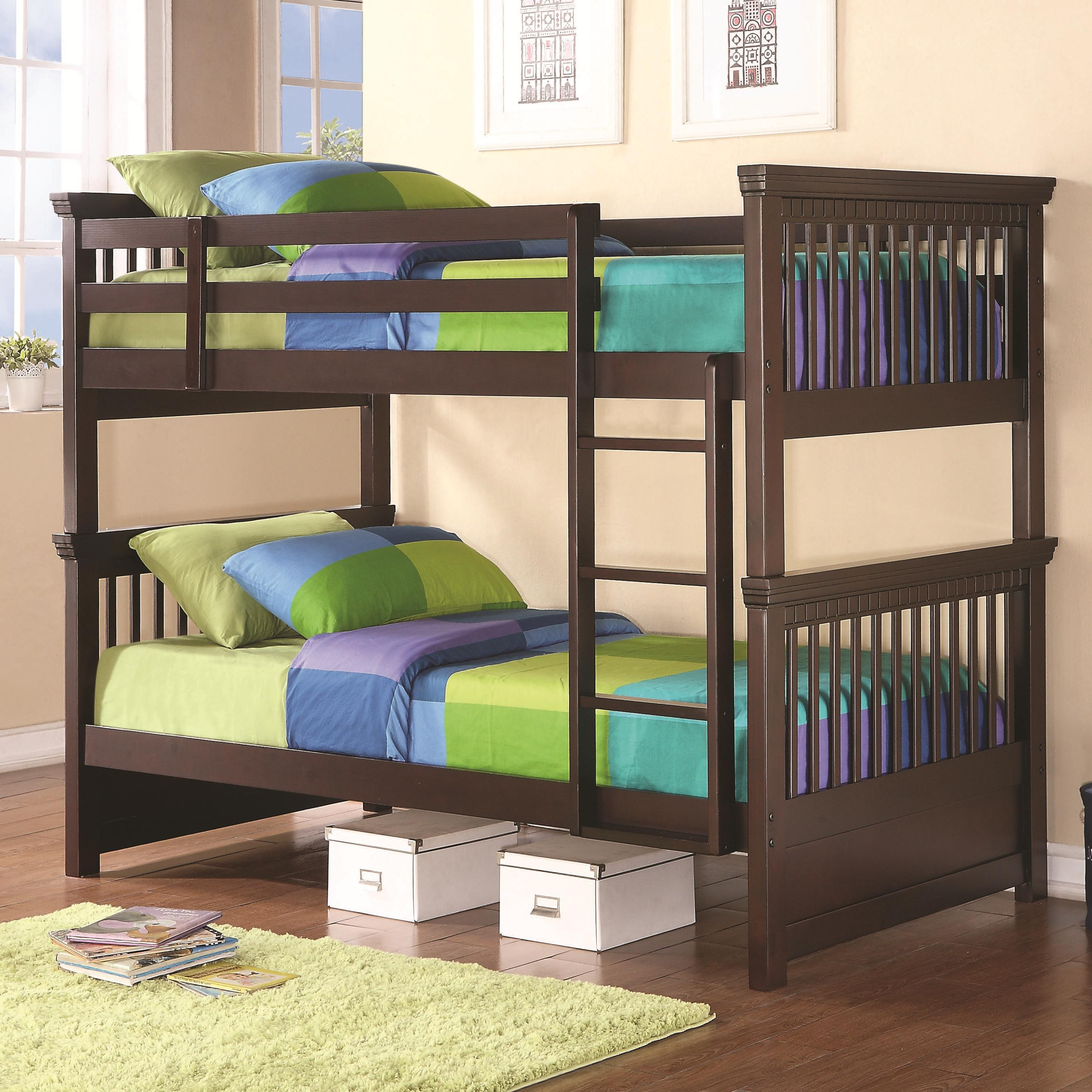 Coaster Bunks 460266 Casual Style Twin Bunk Bed Dunk