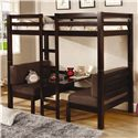 Coaster Bunks Twin Over Twin Convertible Loft Bed - Also Available in Dark Wood Finish