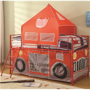 Coaster Bunks Twin Fire Engine Loft Bed