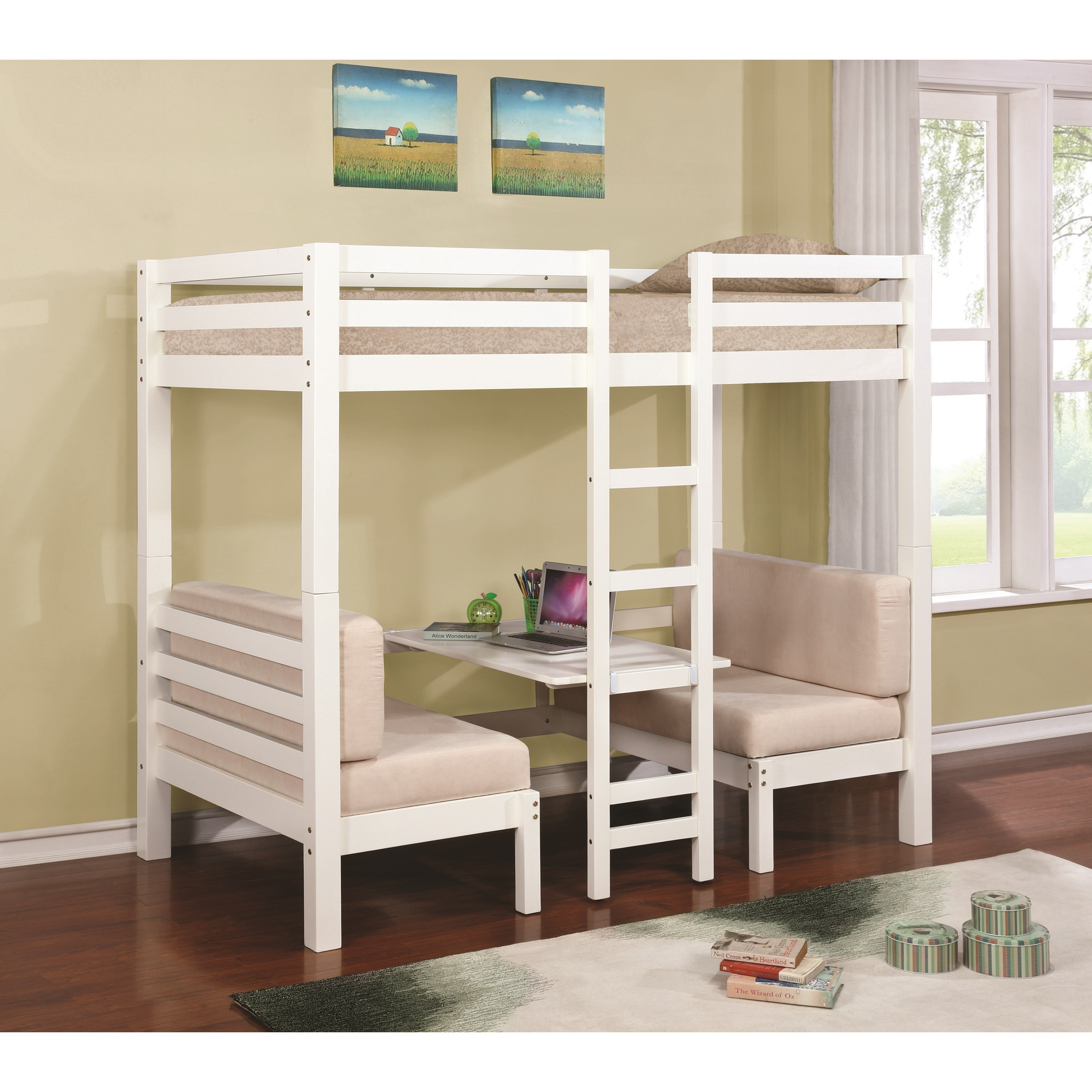 Coaster Bunks Twin Over Twin Convertible Loft Bed Value