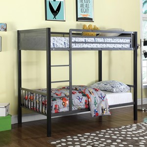 Coaster Bunks Twin Metal Bunk Bed