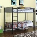 Coaster Bunks Twin Metal Bunk Bed - Item Number: 460390