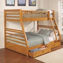 Coaster Bunks Twin over Full Bunk Bed - Item Number: 461183