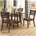 Coaster Byron Round Dining Table with Shelf