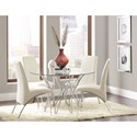 Coaster Cabianca Table and Chair Set - Item Number: 106921+4x121572