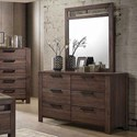 Coaster Caila Dresser and Mirror - Item Number: 206293+206294
