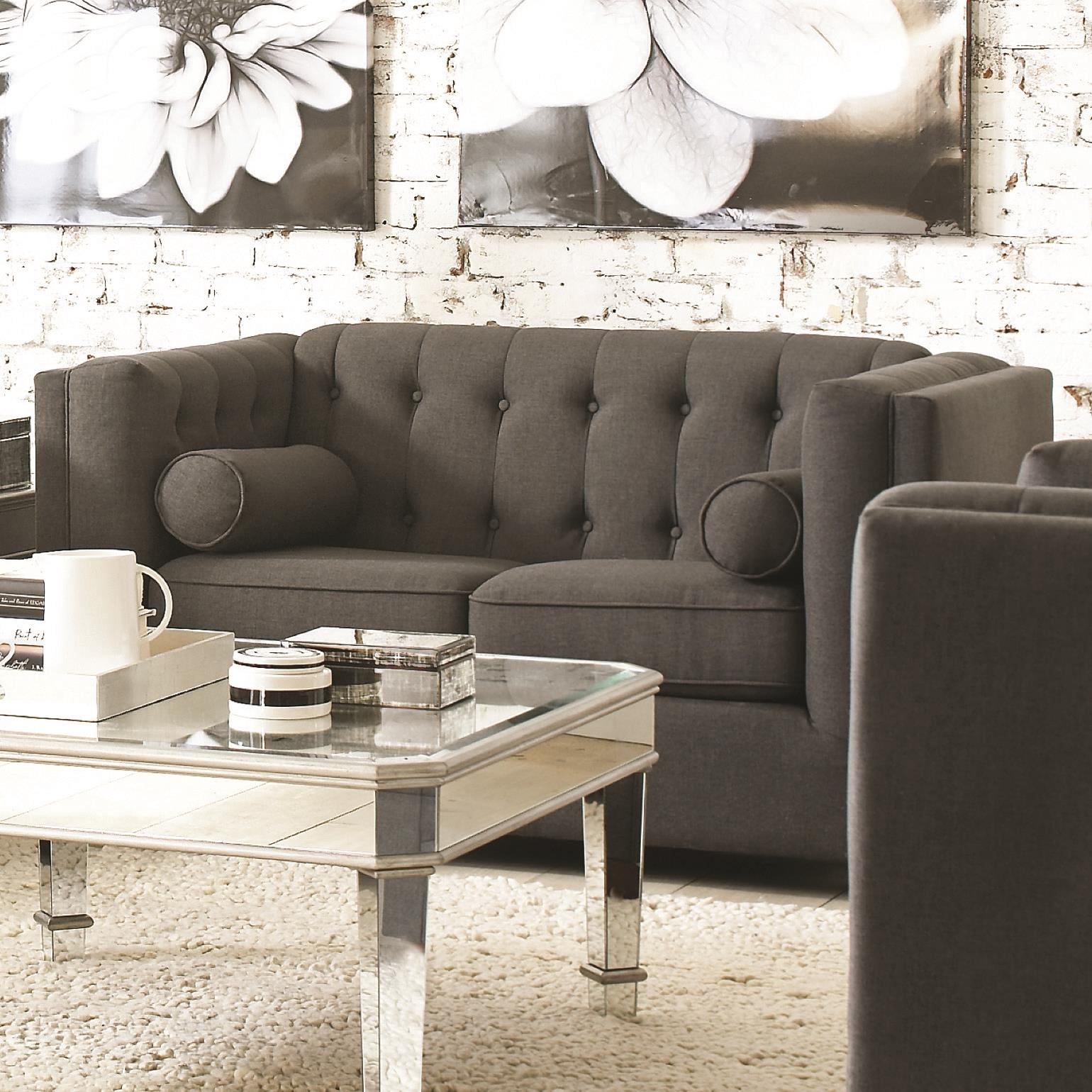 Coaster Cairns Love Seat - Item Number: 504902-Charcoal
