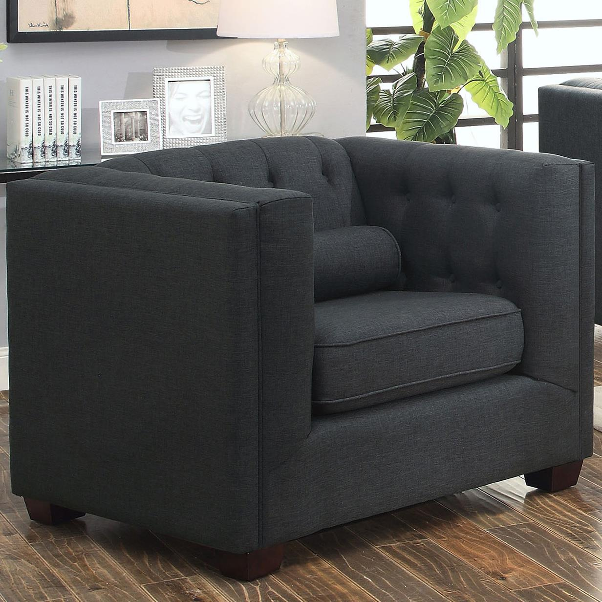 Coaster Cairns Upholstered Chair - Item Number: 504903-Charcoal
