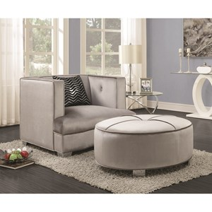Coaster Caldwell Chair and Ottoman