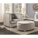 Coaster Caldwell Chair and Ottoman - Item Number: 505883+505884