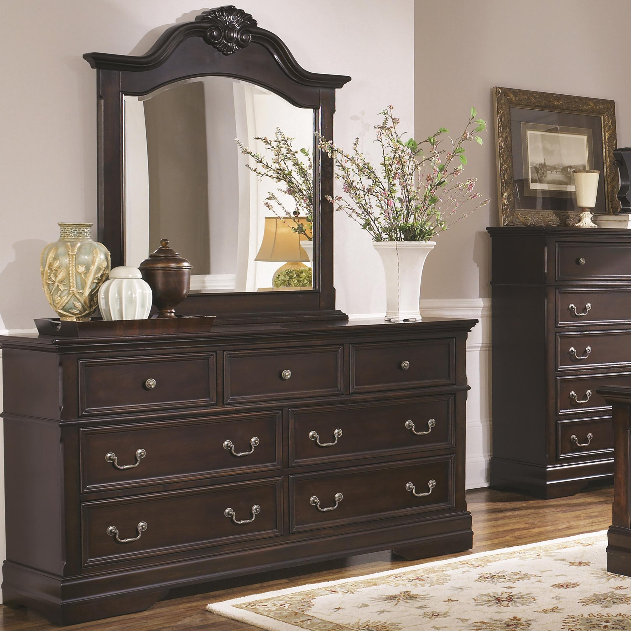 Coaster Cambridge Dresser and Mirror Set - Item Number: 203193+4