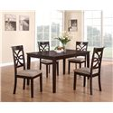 Coaster Cara Dining Chair with Upholstered Seat - Chairs Shown with Table