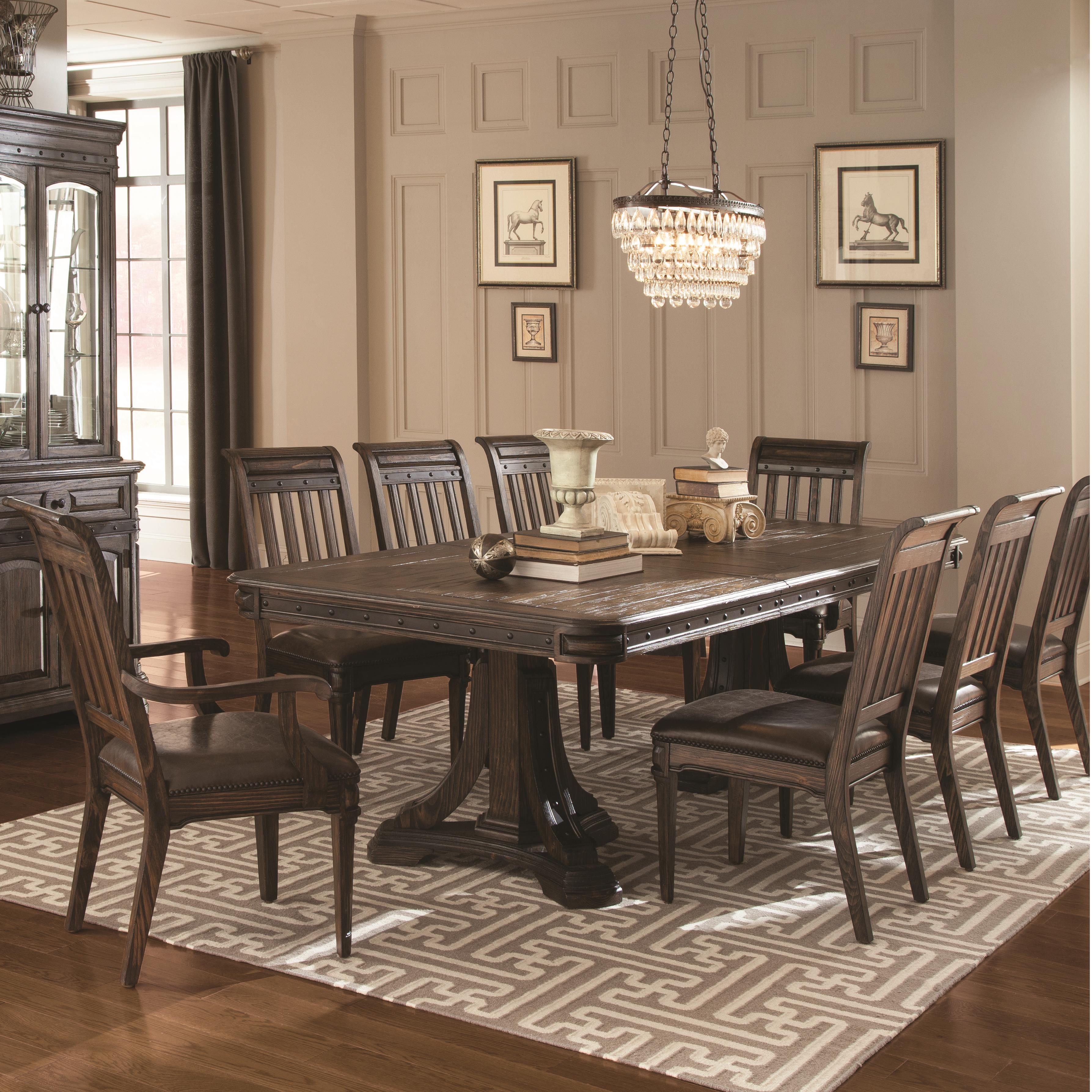 Coaster Carlsbad Dining Set - Item Number: 105731+6x105732+2x105733