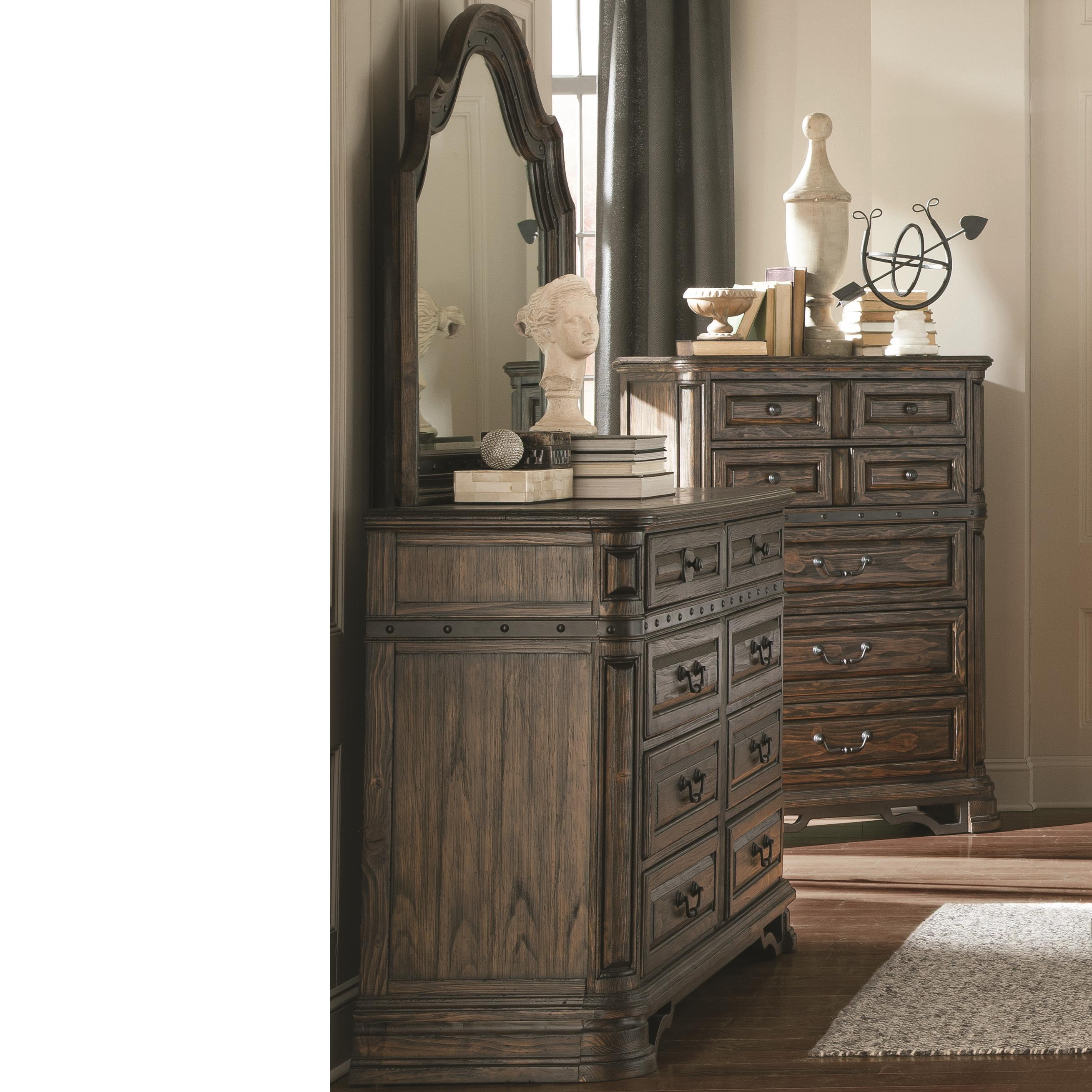 Coaster Carlsbad Dresser and Mirror Set - Item Number: 204043+204044