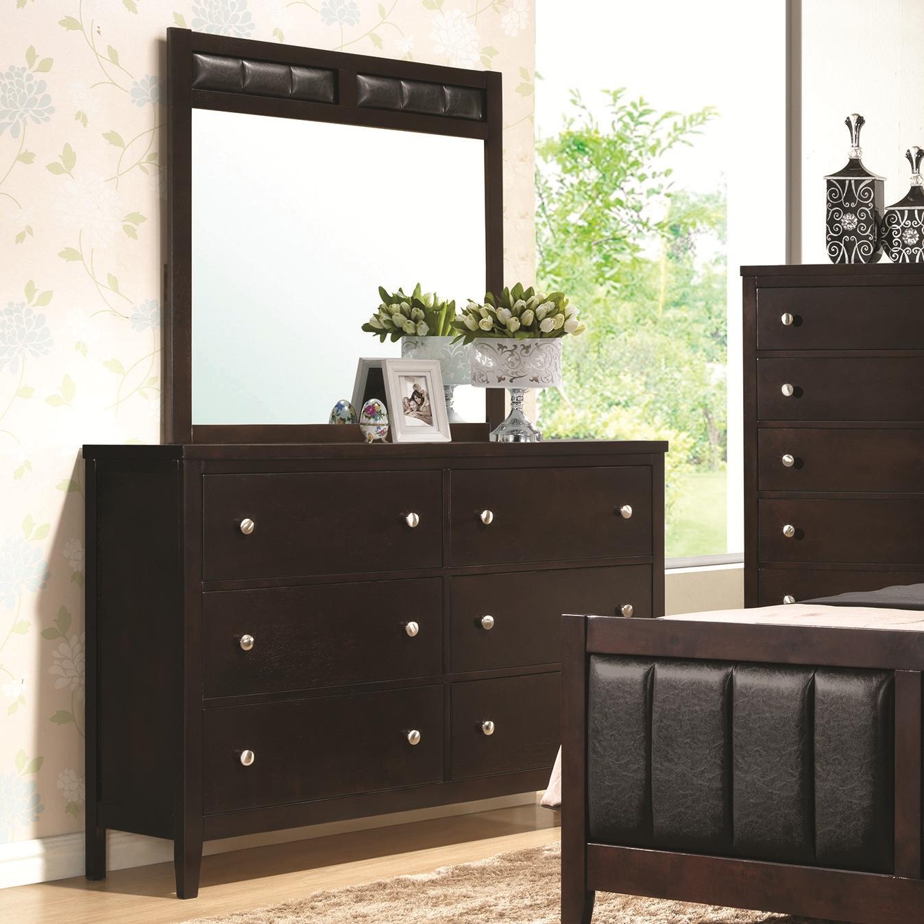 Coaster Carlton Dresser and Mirror Combo - Item Number: 202093+202094