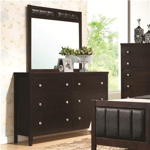 Coaster Carlton Dresser and Mirror Combo