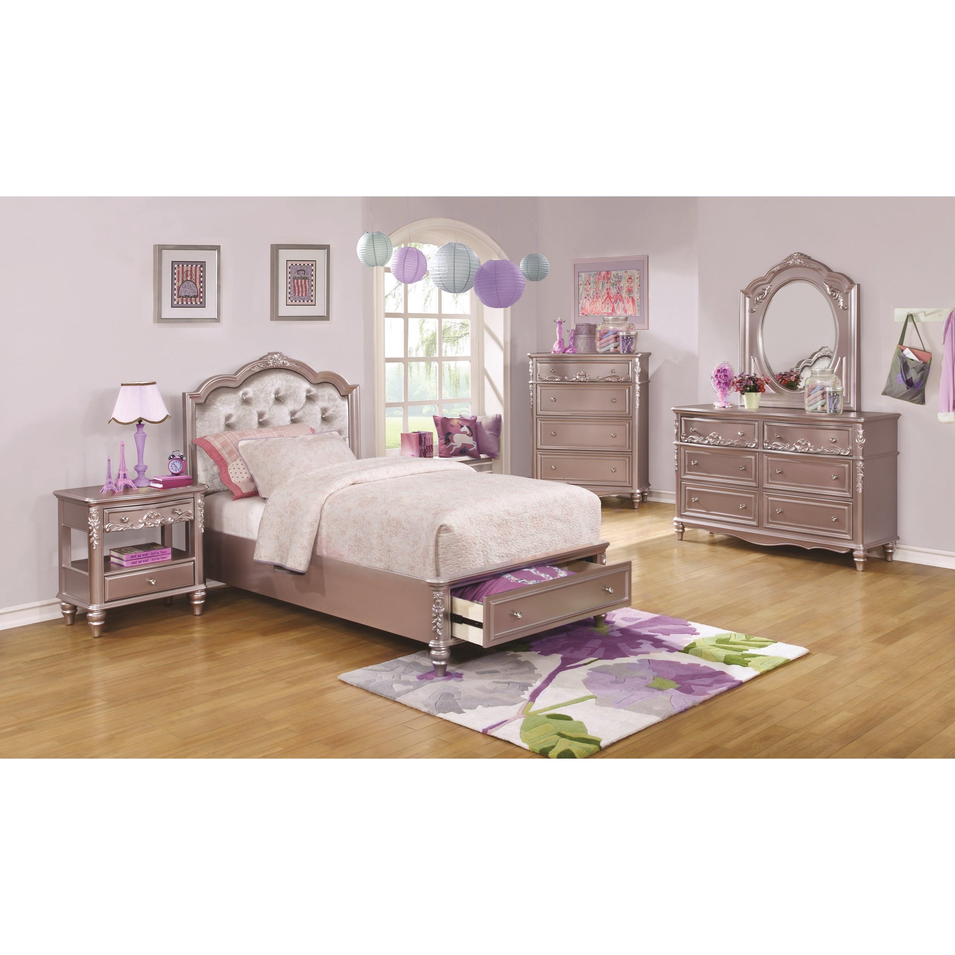 Coaster Caroline Queen Storage Bedroom Group - Item Number: 40089 Q Bedroom Group 2