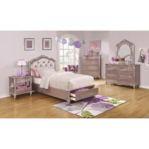 Coaster Caroline Twin Storage Bedroom Group