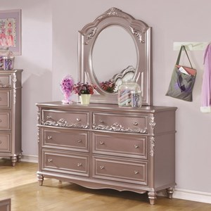 Coaster Caroline Dresser & Mirror Set