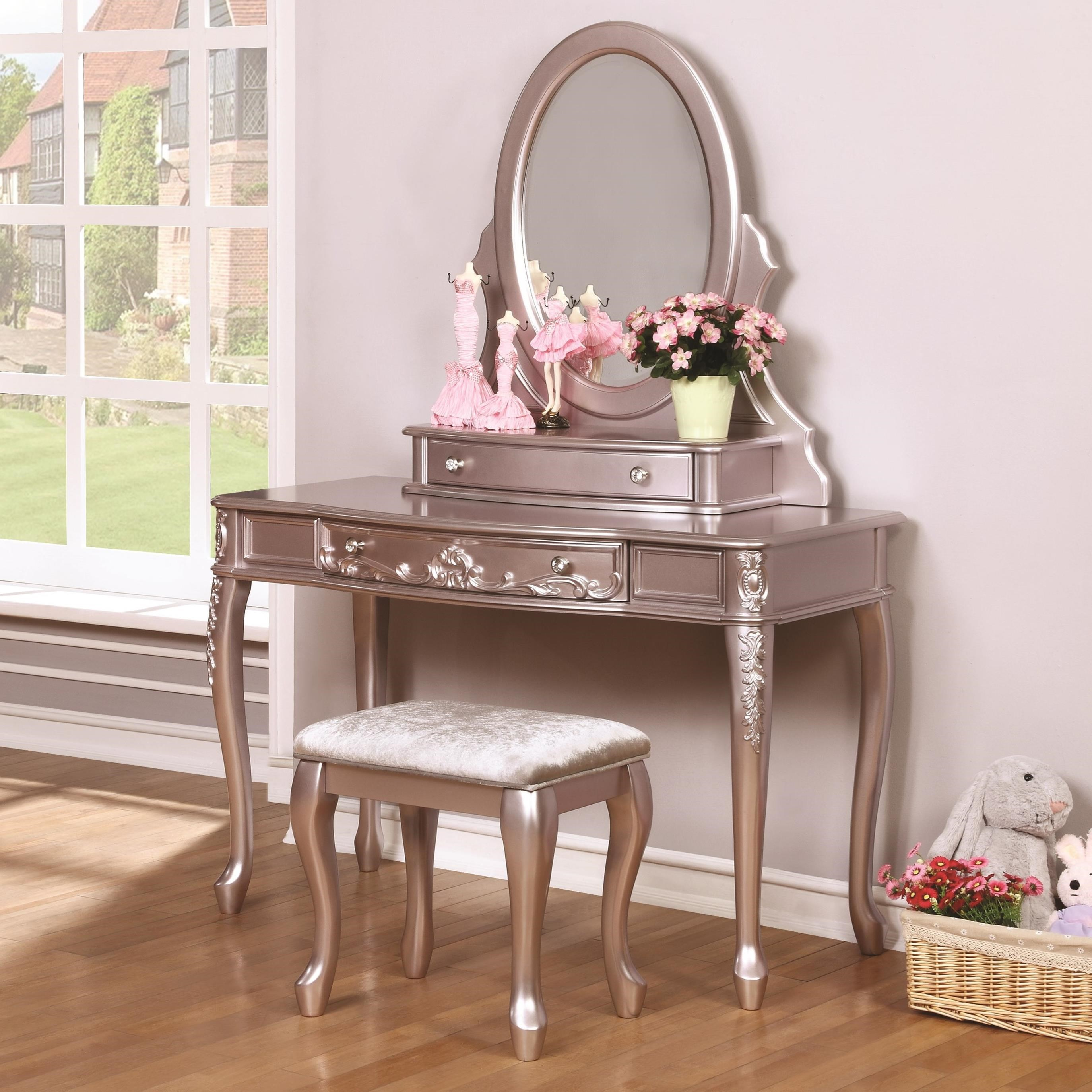 Coaster Caroline Vanity Desk and Mirror - Item Number: 400896+97