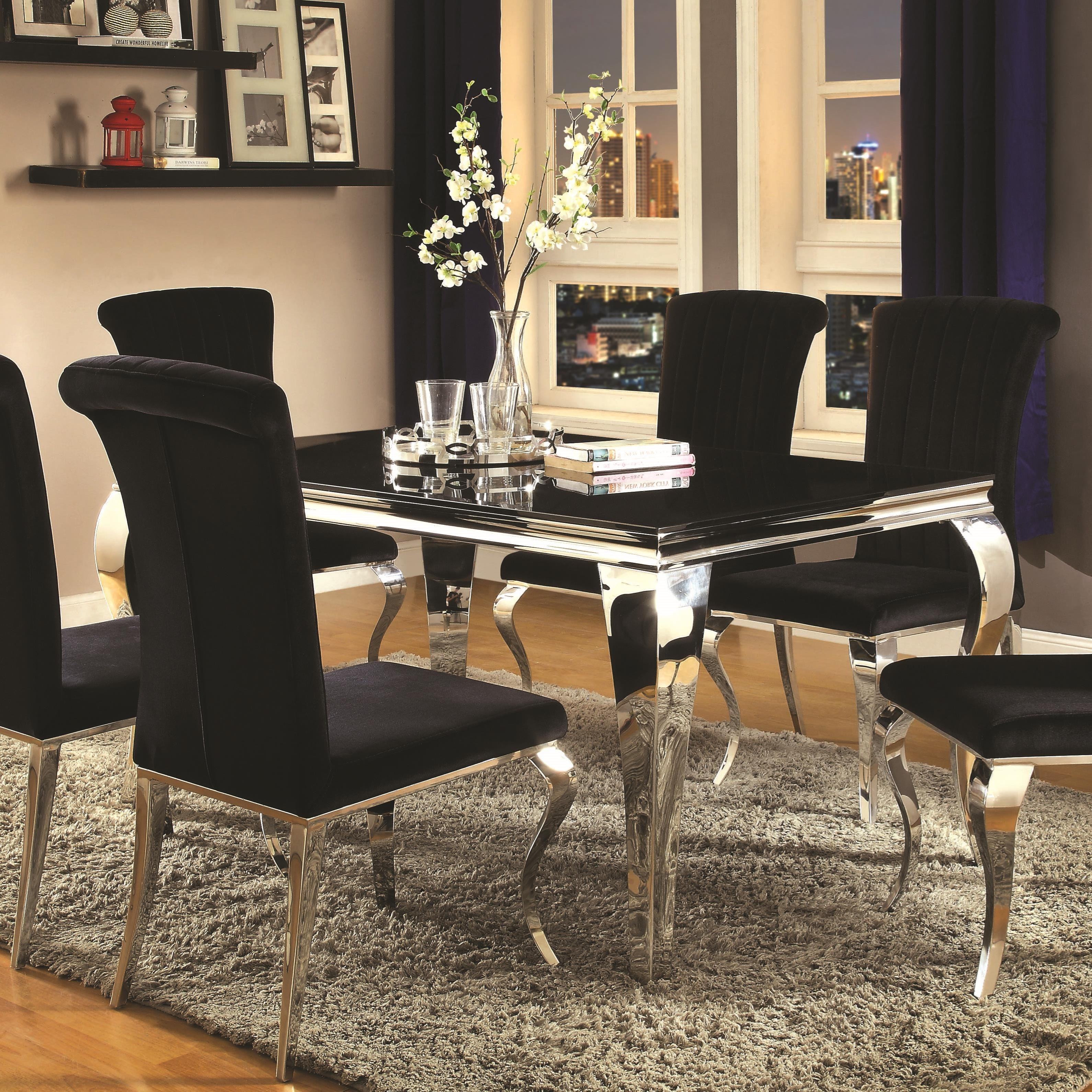 Furniture Dining Room Tables: Coaster Carone Contemporary Rectangular Dining Table
