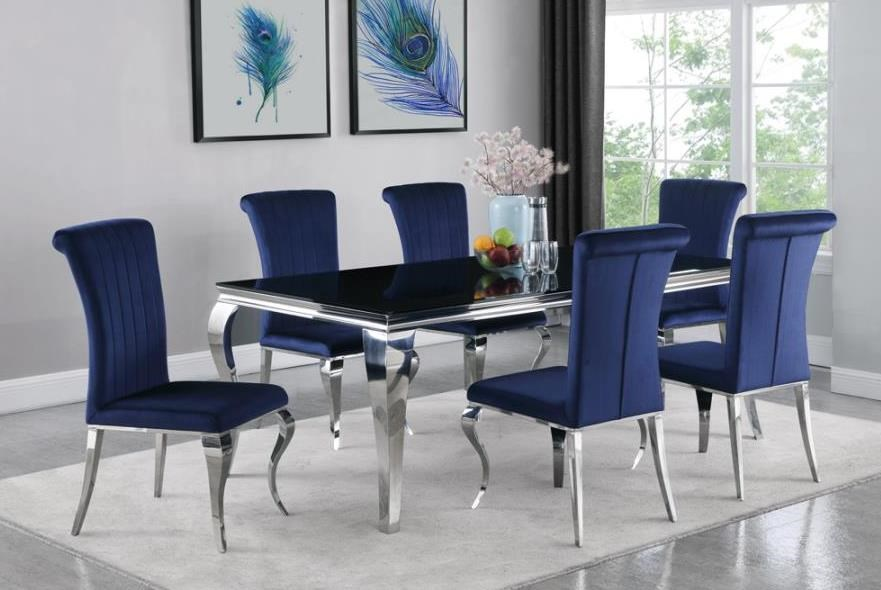 Carone 7-Piece Table and Chair Set by Coaster at Beck's Furniture