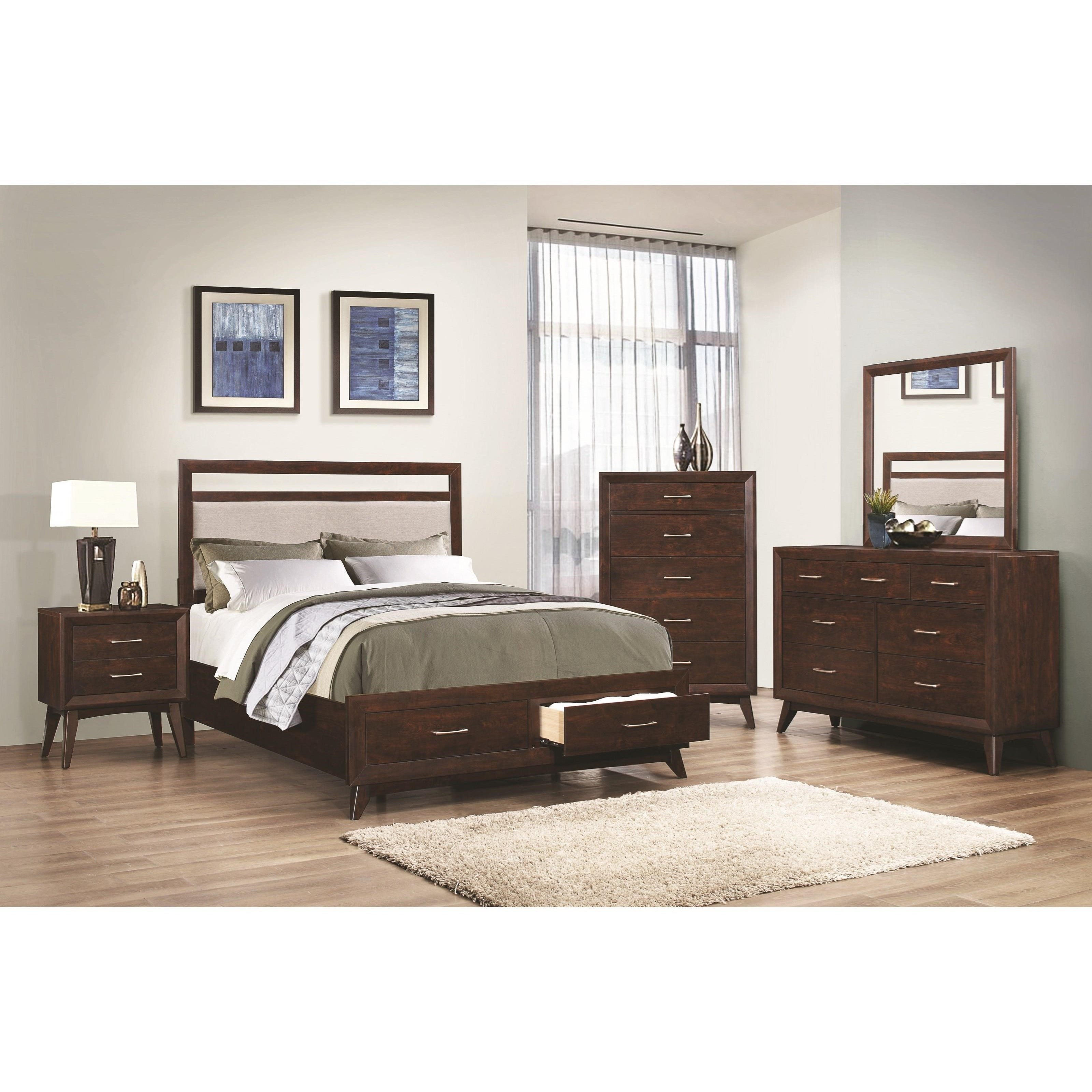 Coaster Carrington King Storage Bed With Upholstered