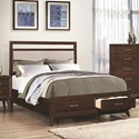 Coaster Carrington King Storage Bed  - Item Number: 205041KE