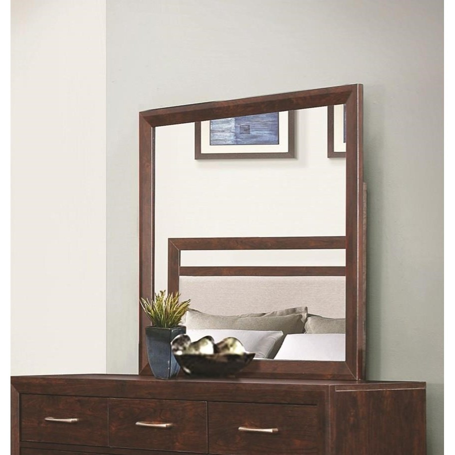 Coaster Carrington Mirror with Wood Frame - Item Number: 205044